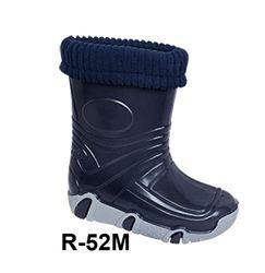 Резиновые сапоги с съемным носком для мальчиковр.21-36
