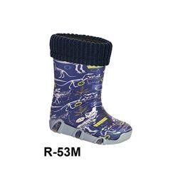 Резиновые сапоги с съемным носком для мальчиков р.23-36