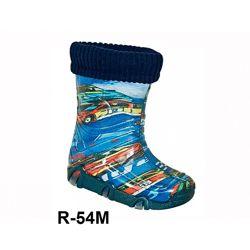 Резиновые сапоги с съемным носком для мальчиков р.23-34