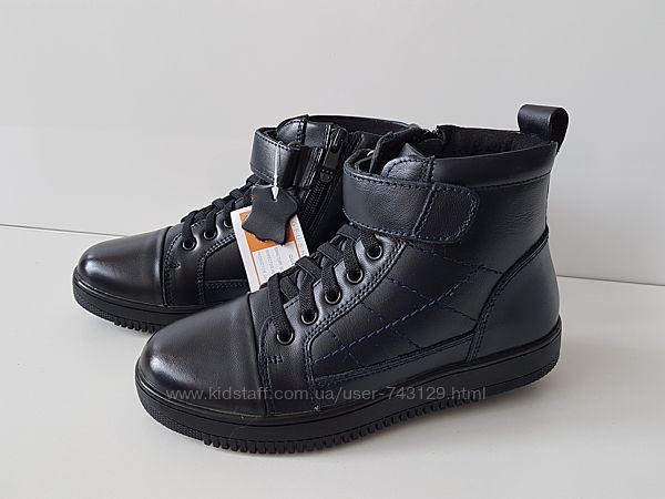 Кожаные ботинки для мальчика осень-весна