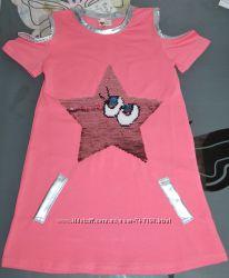 Летнее платье 3, 4, 6 лет 2-сторонние пайетки звезда Турция, 190 грн ... 581c30b2e8e