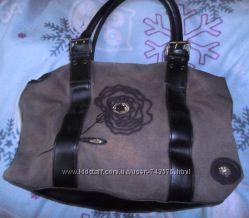 Прочная тканевая сумка с вышивкой
