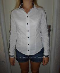 Стрейч - коттоновая нарядная блузка