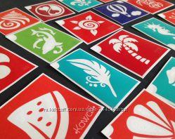 Трафареты наборы для бикини-дизайна, бодиарта , декупажа, декора