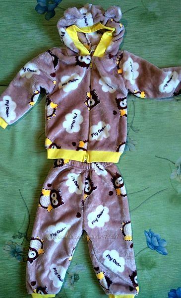 Мягкий костюм из махры на рост 70-80 см