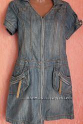 платье джинсовое на змейке Мка