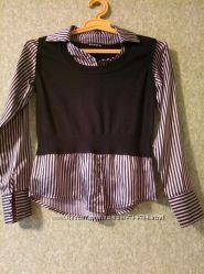 блуза с жилeткой. обманка. 44-46р