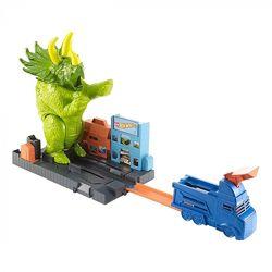 Hot Wheels Smashin Triceratops Playset Опасный Трицератопс игровой набор