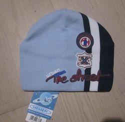 Демисезонные шапочки для мальчиков Польша. Размер 48-50  до 52см