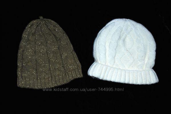 Трикотажные  вязанные моднявые шапочки на девочку Mathercare