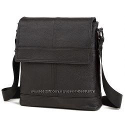 Кожаная мужская сумка на плечо. Доступные цены. Разные цвета