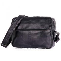 88a31460c24e Кожаные сумки на плечо среднего размера черного и коричневого цветов ...