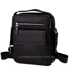 Кожаная мужская сумка на плечо. Мессенджер