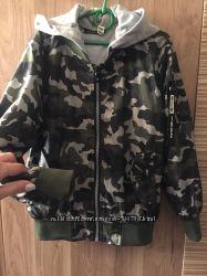 Ветровка хаки военный костюм кроссовки 128- 134-140 для мальчика
