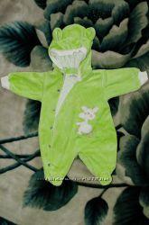 Велюровый комбинезон человечек на подкладке Baby Life Бейби Лайф, р. 56