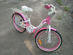 Детский велосипед Waldirowery Lady Валдировери Леди 20 дюймов, розово-белый