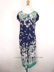 Marks&Spencer яркое красивое платье необычный крой цветочный принт