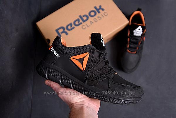 Мужские кожаные кроссовки reebok classic tracking orange кроссовки мужские