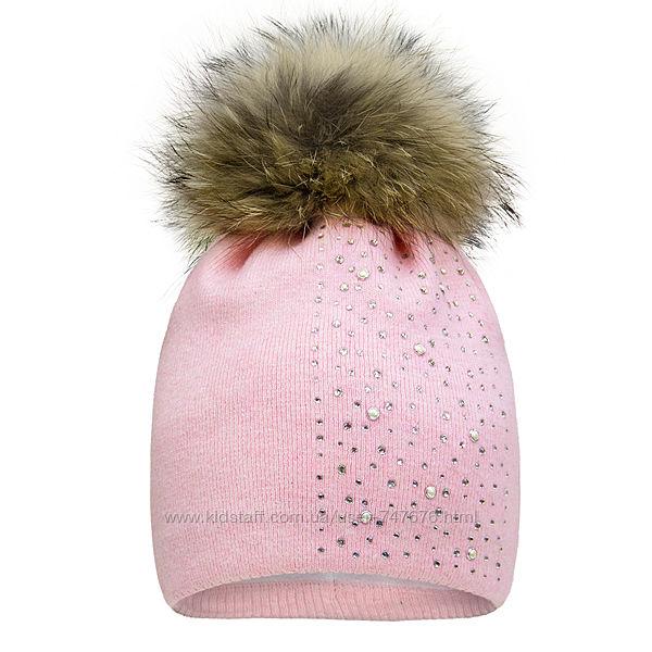 Шикарная зимняя шапочка Davids Star 50р. зимова шапка девід стар