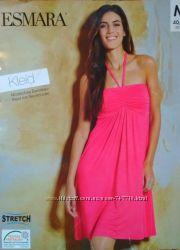 Летнее трикотажное пляжное платье бюстье Esmara