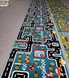 Детские ковры с дорогами на отрез и готовые