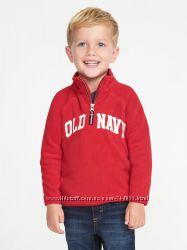 Кофта флисовая для мальчика Old Navy красная Лого р. 2Т, 3Т