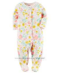Человечек флисовый для девочки Картерс Маленький цветочек 3М, 6М, 9М