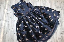 Нарядное пышное платье в единорожки h&m