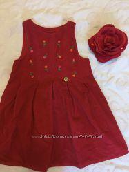 Фирменное вельветовое платье на рост 92-110 Laura