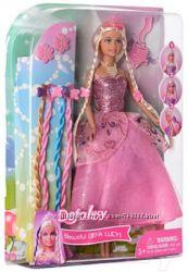 Кукла Defa  с цветными косичками и заколками