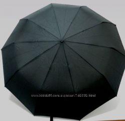 Мужской автоматический итальянский зонт черного цвета