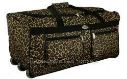 Сумка на колесах для путешествий Леопардовая 64 литра