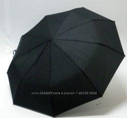 Мужской зонт полуавтомат черного цвета