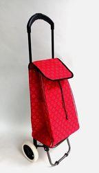 Хозяйственная сумка - тележка кравчучка с выдвижной ручкой