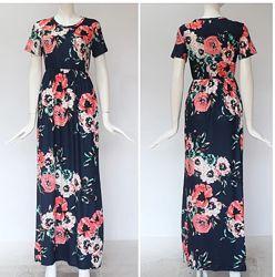 Летнее платье в пол Цветы