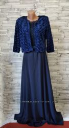 Нарядное женское платье темно синее