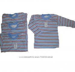 Джемпер новый полосатый для мальчиков и девочек с р. 80-86, 86-92