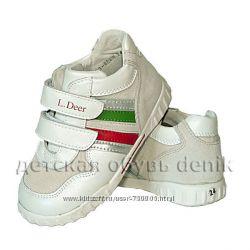 Кожаный кроссовки для ребенка с р. 26 стелька 17см