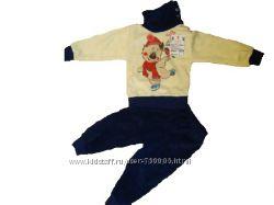 Новый флисовый костюмчик СНЕГОВИЧОК для малышей с р. 80 - 92.  Коробка под
