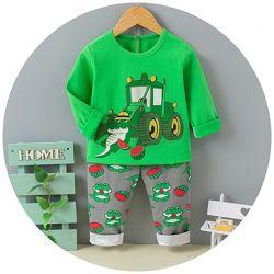 Яркие хлопковые пижамки для деток 80-120 см