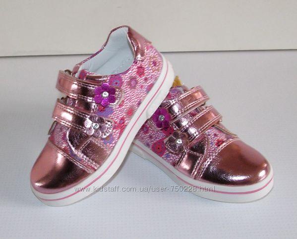 Туфли кроссовки для девочек Clibee Румыния розовые 26, 31