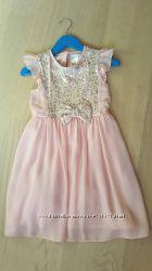 Платье с пайетками на 5-6 лет