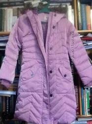 Пухове пальто для дівчинки 7-8 років, Landsend