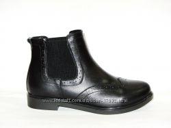 Кожаные демисезонные ботинки челси, новая коллекция, 36, 40р.