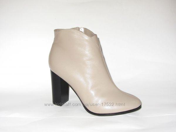 Кожаные демисезонные ботинки, новая коллекция , 36, 37, 38, 39, 40р.