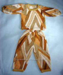Пушистая махровая пижама на 1-2 годика очень теплая и мягкая