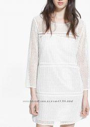Трендовое платье mango с ажурным геометрическим рисунком рр l, 8 usa