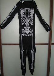 Карнавальный костюм. Костюм на хэллоуин скелет на рост 140-152 11-12лет