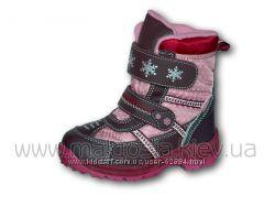 Термо-ботинки B&G для девочки разные р. 25-36
