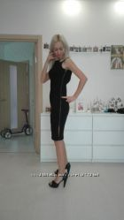 Распродажа - Изысканное черное платье Banana Republic